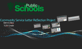 Community Service Letter Reflection Project