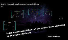 Roles and responsibilities of the key services attending an