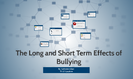 The Long and Short Term Effects of Bullying
