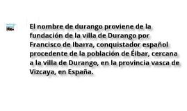 La Historia de Durango