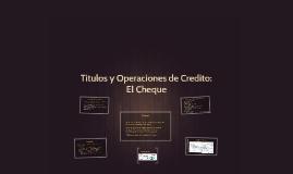 Titulos y Operaciones de Credito: