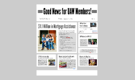 Good News for UAW Members!