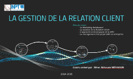 Copy of La gestion de la relation client (CRM)