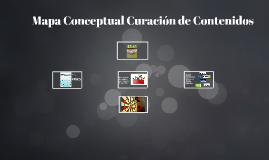 Mapa Conceptual Curación de Contenidos