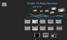 Chapter 19: Redox Reactions