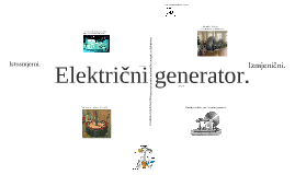 Copy of Električni generator.