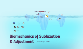 Biomechanics of Subluxation & Adjustment