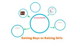 Raising Boys vs. Raising Girls