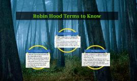 Robin Hood Terms