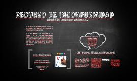 rECURSO DE INCONFORMIDAD