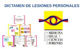 DICTAMEN DE LESIONES PERSONALES