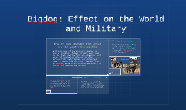 Bigdog: Effect on the World and Military