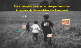 Programa Desenvolvimento Emocional | Leiria - Sessão Pais e Educadores