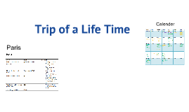 Trip of a Life Time!