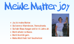 Meine Mutter Joy