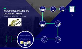 METODO DEL ANÁLISIS  DE LA CADENA CAUSAL (accidentes)