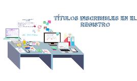 Derechos inscribibles en el Registro