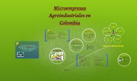 Copy of Microempresas Agroindustriales en Colombia