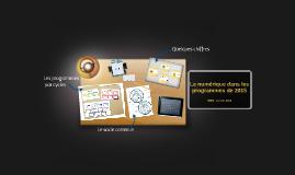 Le numérique dans les programmes de 2015