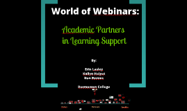 NCLCA 2012 World of Webinars