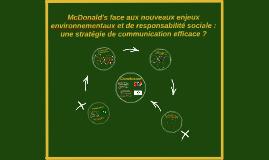 Copy of McDonald's : communication RSE