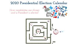 Election Calendar--2012