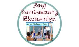 Ang Pambansang Ekonomiya