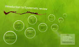 Introduction to Systematic review