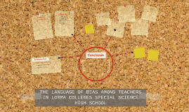 THE LANGUAGE OF BIAS AMONG TEACHERS IN LORMA COLLEGES SPECIA