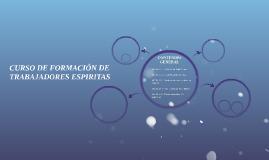 CURSO DE FORMACIÓN DE TRABAJADORES ESPIRITAS