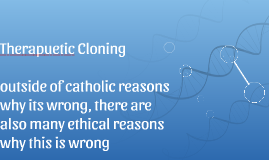 Therapuetic Cloning