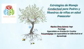 Copy of Estrategias de Manejo Conductual para Padres y Maestros de n