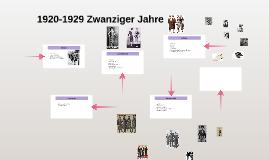1920-1929 Zwanziger Jahre
