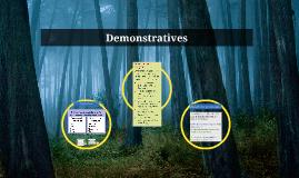 Demonstratives