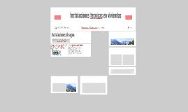 Copy of Instalaciones tecnicas en viviendas