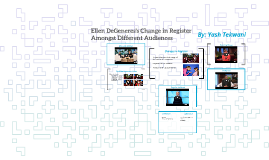 Evaluating the Change in Register for Ellen DeGeneres