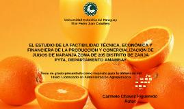 Comercialización de Naranja