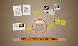 PBL - how to create a task