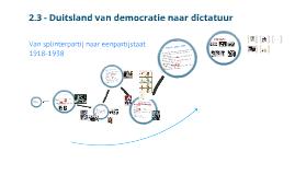Copy of 2.3 - Duitsland van democratie naar dictatuur