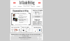 1st Grade Writing PD