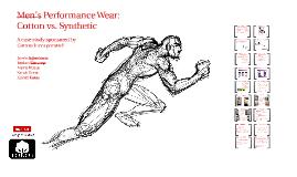 Men's Performance Study