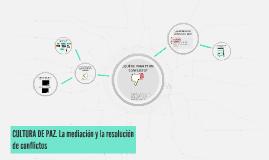 Copy of Copy of CULTURA DE PAZ. La mediación y la resolución de conflictos