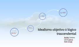 Copy of Idealismo objetivo ó logico trascendental