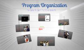 Copy of Program Organization