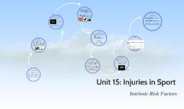 Unit 15: Injuries in Sport