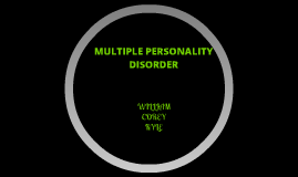 mutiple personality disorder