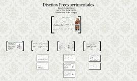 Diseños Preexperimentales