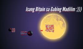 Isang Bituin sa Gabing Madilim :)))