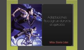 ND Adaptaciones fisiológicas durante el ejercicio