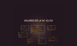 VALORES DE LA VC 20/20